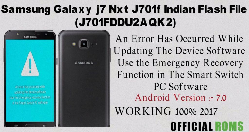 Samsung Galaxy j7 Nxt J701f Indian Flash File