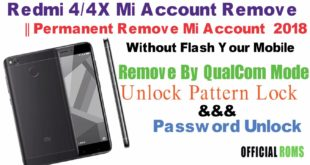 Redmi 4/4x Mi account Remove ||Permanent Remove Mi account