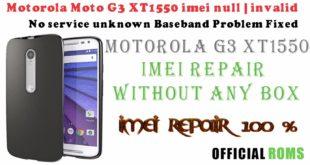 Motorola Moto G 3rd Generation (XT1550) IMEI Repair without box working 100% 2018