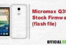 Micromax Q391 Stock Firmware (flash file)