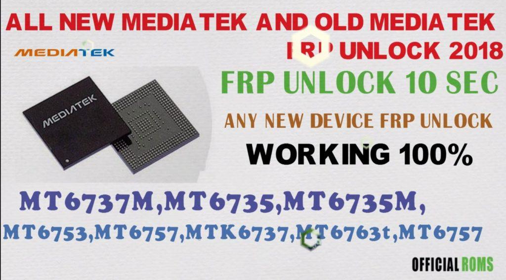 All MTK MEDIATEK FRP UNLOCK USING SP TOOLS 100% Tested Free
