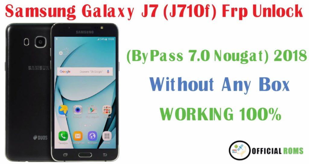 Samsung Galaxy J7 j710f Frp Unlock One Click Remove