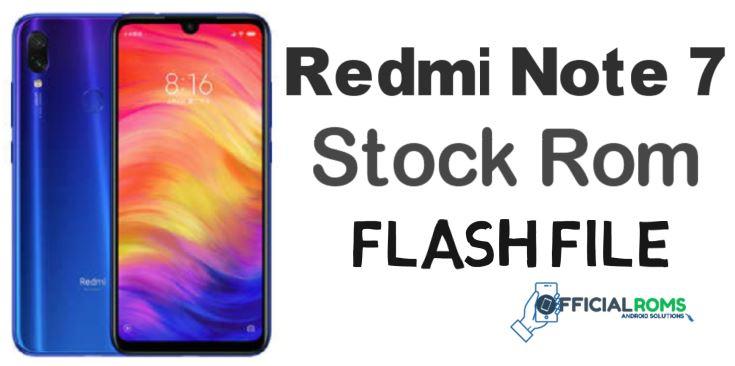 Redmi Note 7 MIUI 12 Flash File