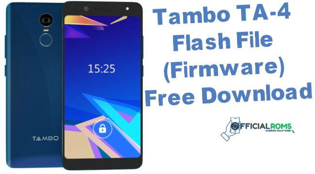 Tambo TA-4 Flash File (Firmware) Free Download