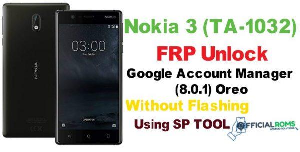 NOkia 3 FRP Unlock