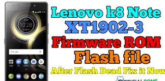 Lenovo K8 Note Stock Firmware ROM Flash File XT1902-3