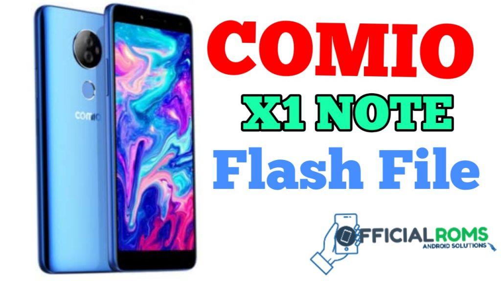 Comio X1 Note Flash File (Stock Rom)