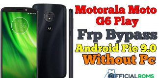 Motorola Moto G6 Play Frp Bypass Android Pie 9 Without Pc