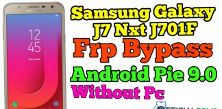 Remove FRP Samsung J7 Nxt J701F Bypass FRP Android 9 100% Tested Without Pc