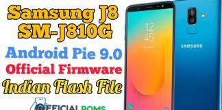 Samsung J8 SM-J810G 9.0 Official Firmware Indian File