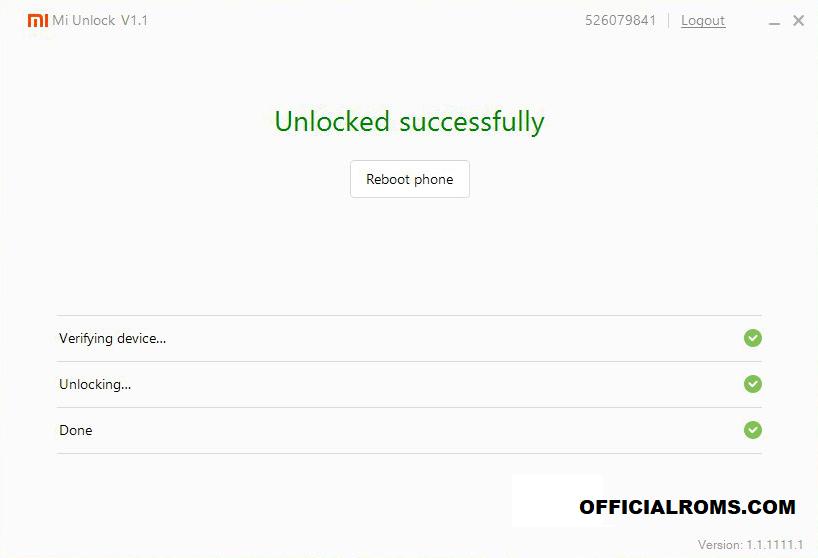 Unlock Sucessfully flash unlock tool