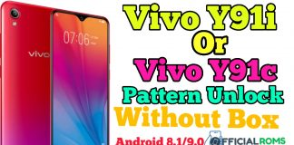 Vivo Y91i or Y91c Pattern Unlock Android 8.1/9.0 Without Box