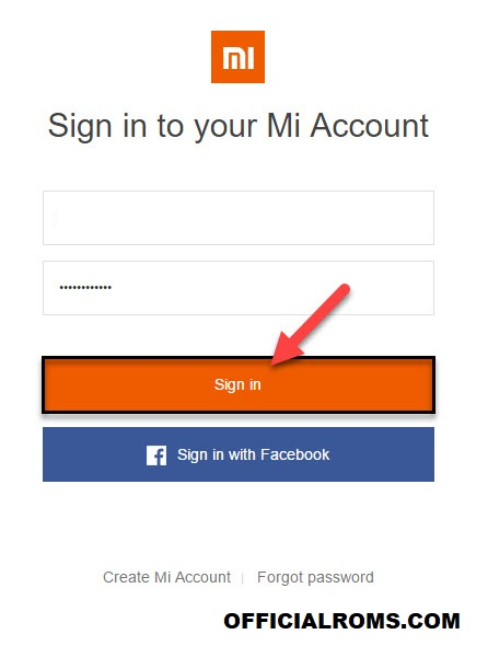 Sign in Mi Account Unlock Booloader
