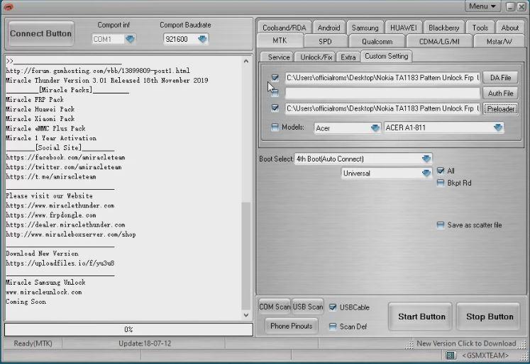 TA-1063 frp pattern unlock