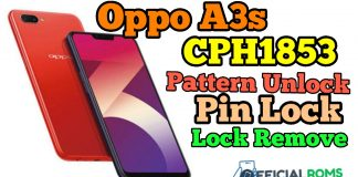 Oppo A3s Pattern Unlock Without Any Auth id Without Any Box