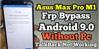 Asus Max Pro M1 (X00TD) Frp Bypass Pie 9.0 Without Any Pc