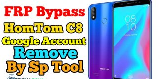 FRP bypass HomTom C8- Google Account Remove by Sp Tool