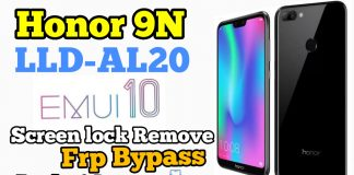 Honor 9N Screen Lock & Frp Unlock Android 9.1 EMUI 10