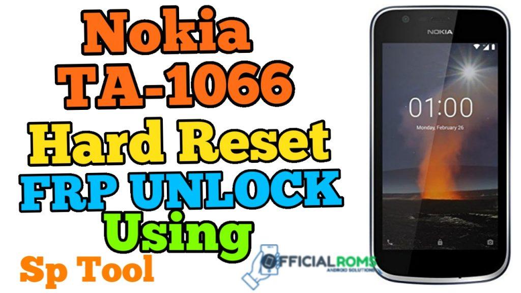 Nokia 1 TA-1066 Hard Reset Frp Bypass Using Sp Tool 2020
