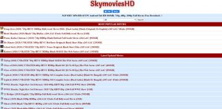 Skymovies 2020 – Latest Hollywood, Bollywood Movies & Series
