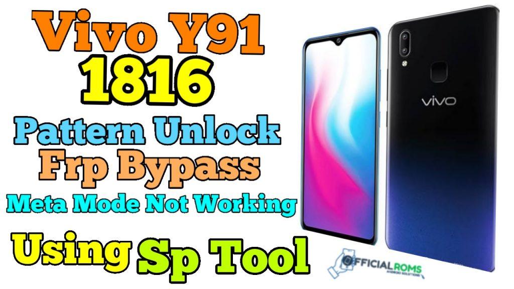 Vivo Y91 1816 Unlock Vivo Y91 Unlock by Sp tool