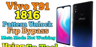 Vivo Y91 Pattern Unlock