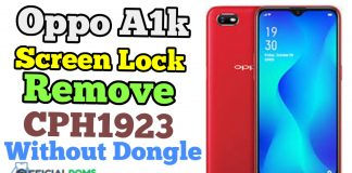 Oppo A1k Screen Lock Remove CPH1923 Without Any Box Frp Remove