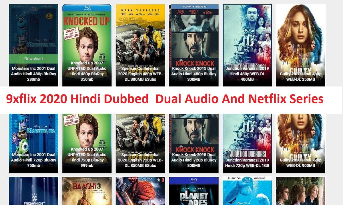 9xflix 2021 Hindi Dubbed Dual Audio And Netflix Series