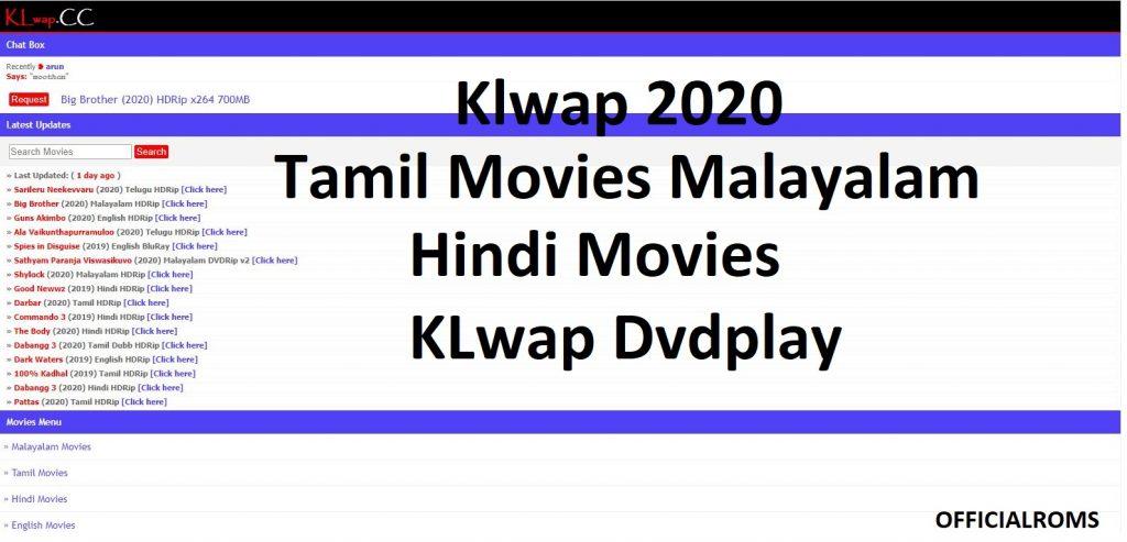 Klwap 2020 Tamil Movies Malayalam Hindi Movies