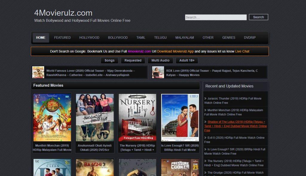 MovieRulz2 2020 Watch Online Bollywood Telugu, Tamil, Movies