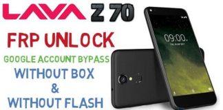 Lava Z70 frp unlock