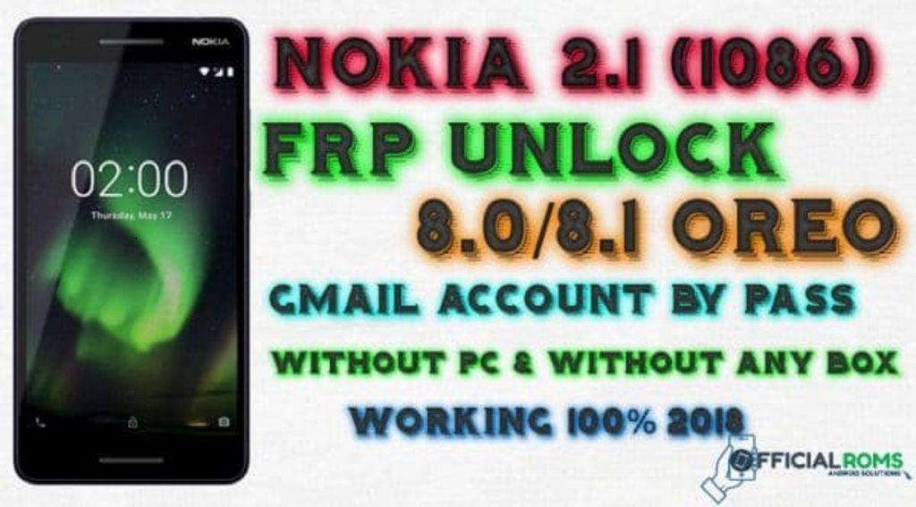 Nokia 6.1 TA -1089 Frp Unlock