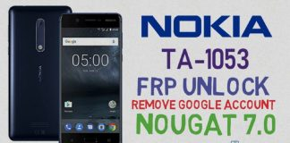 Nokia TA-1053 Nougat 7.0 Frp Unlock without Box