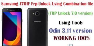 Samsung J701F frp lock