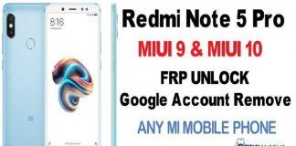 Redmi Note 5 Pro frp Unlock