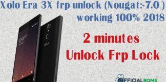 Xolo Era 3X Frp Unlock