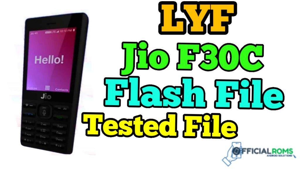 LYF Jio F30c Flash File Tested Working 100% 2020