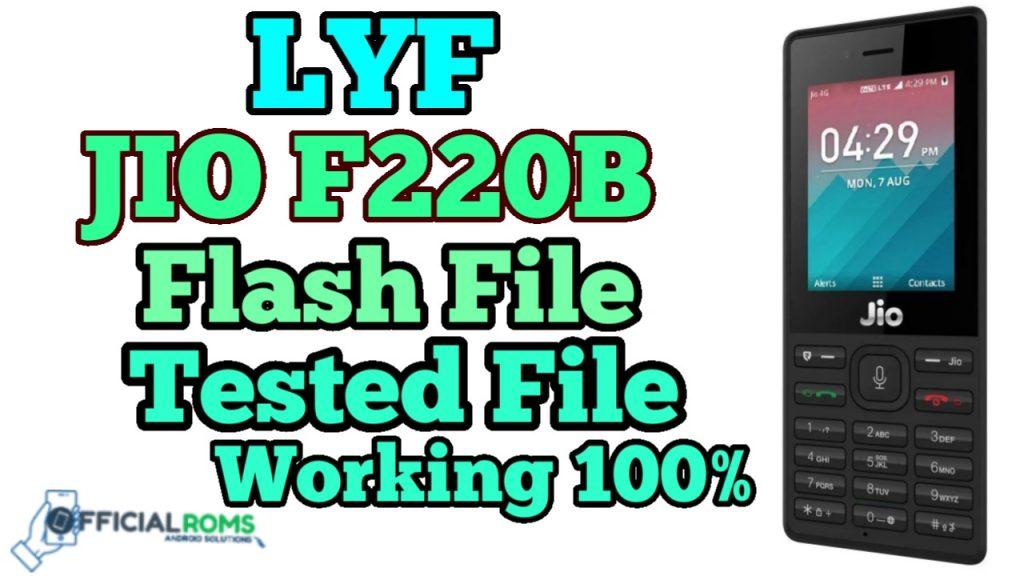 LYF Jio F220B Flash File Hang on Logo (Stock ROM) 2020
