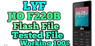 LYF Jio F220B Flash File Hang on Logo (Stock ROM) 2020