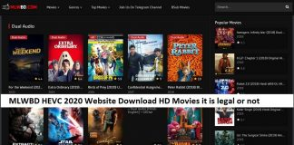 MLWBD HEVC 2020 Website Download HD Movies it is legal or not