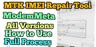MTK IMEI repair tool ModemMETA All Version MediaTek CPU