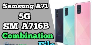 Samsung A71 5G SM-A716B Combination File (Latest Update)