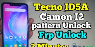 How to Unlock Frp And Pattern Tecno ID5A I2 Without Any Box