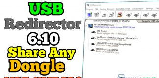 USB Redirector with Teamviewer for share dongle box