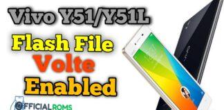 Vivo Y51/Y51L Flash File Volte Enabled Stock Firmware
