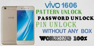 Vivo Y53 1606 Pattern Unlock password Unlock Without Box