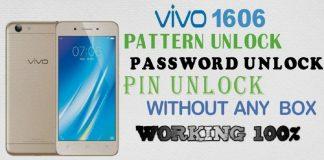 Vivo Y53 1606 Pattern Unlock password Unlock Without Box