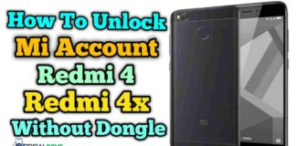 How to Unlock Mi account Redmi 4 & 4x Without Dongle 2020