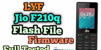 Lyf Jio F210q Flash File (Firmware ROM) Full Tested