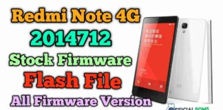 Mi Redmi Note 4G (2014712) flash file Stock Firmware Tested